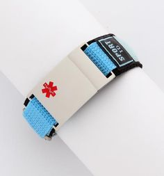 A medical alert bracelet for exercise.
