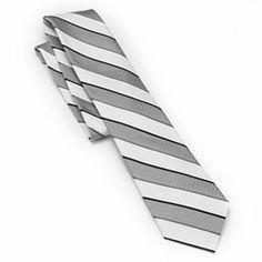 Van Heusen Modern Striped Silk Tie - Men