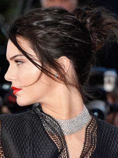 Kendall Jenner #Cannes2015 #hairstyle