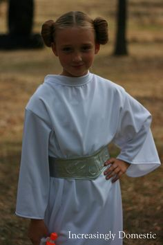 My daughter Brooklyn as Princess Leia.   Perfect character for her: girly and strong and super sassy.       My little Leia was asked a c...