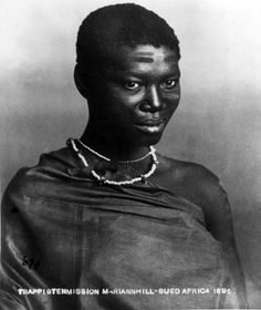 Africa | Portrait of a woman; possibly Xhosa.  South Africa.  1896. | © Trappistenmission Mariannhill, photographer