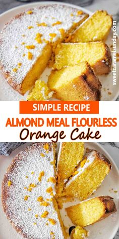 Easy oven baked Almond Meal Flourless Orange Cake that is gluten free. This recipe is packed with flavor using real orange and almond meal. Simple, fresh and tasty. #easyrecipe #orangecake #cakerecipes @sweetcaramelsunday Flourless Orange Cake, Flourless Cake, Popular Recipes, Great Recipes, Favorite Recipes, Healthy Recipes, Almond Recipes, Baking Recipes, Dessert Recipes