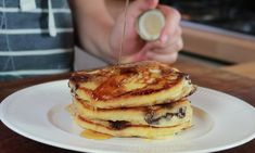 The Little Library Kitchen: Chocolate Chip And Blueberry Pancakes