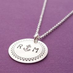 Anchor Necklace  Personalized Initials in by EclecticWendyDesigns, $35.00, I just ordered mine! So excited for it to come in the mail!