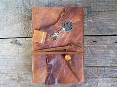 Goat Leather Journal brass key white paper Ready to Ship by ArtNotebooks on Etsy Handmade Market, Handmade Gifts, Leather Journal, Craft Sale, White Paper, Goats, Arts And Crafts, Ship, Key