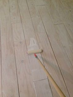 plywood flooring DIY Wide-Plank Floors (Made from Plywood!) - Little Green Notebook Plywood Plank Flooring, Diy Flooring, Wood Planks, Wooden Flooring, Hardwood Floors, Flooring Ideas, Stained Plywood Floors, White Flooring, Laminate Flooring