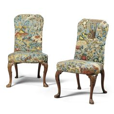 A pair of George I walnut side chairs<br>circa 1720 | lot | Sotheby's