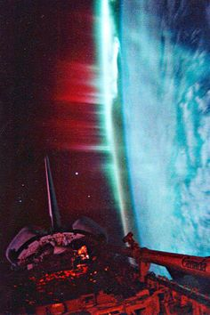 Aurora Borealis from Space Shuttle Discovery