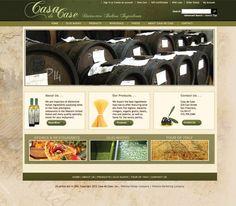 Casa de Case offers distinctive Italian restaurant ingredients hand selected from Italy. Big Commerce Website Design - Pixel Productions, Inc. www.pixelproductionsinc.com