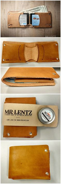 Each Mr. Lentz Minimal Traditional Leather Wallet is cut, branded, stamped, dyed, oiled and waxed and assembled by hand in his workshop in the U.S. providing the highest degree of quality you can imagine.