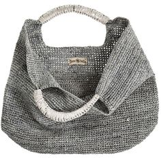 Crochet Raffia Leather Tote