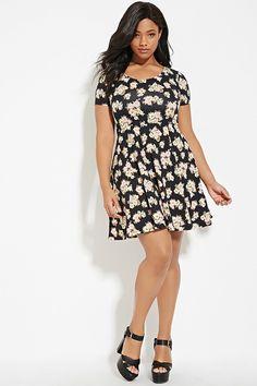 2bfccf03c50 Plus Size Floral Dress Clothes Encounters