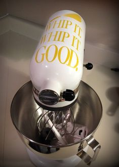 Adorable Vinyl Decals for Kitchenaid Mixers - Thrifty Jinxy