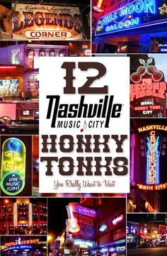 10 of the Best Nashville Bars on Lower Broadway (Honky Tonk Row) 12 Downtown Nashville Honky Tonks On Lower Broadway You Want To Experience Source by duncanlove Nashville Bars, Nashville Things To Do, Nashville Broadway, Weekend In Nashville, Nashville Vacation, Music City Nashville, Visit Nashville, Tennessee Vacation, Nashville Tennessee