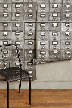 Card Catalog Wallpaper - anthropologie.com