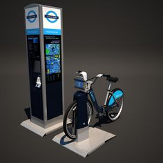 Barclays Cycle Hire Model available on Turbo Squid, the world's leading provider of digital models for visualization, films, television, and games. Stationary, Models, 3d, Digital, Templates, Fashion Models