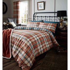 details about catherine lansfield heritage kelso check checked duvet quilt cover bedding set