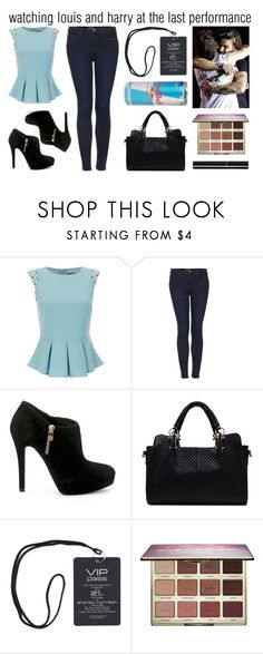 """larry #4 (louis tomlinson and harry styles)"" by onedirectionismykyroptonite ❤ liked on Polyvore featuring Lipsy, Topshop, MICHAEL Michael Kors, tarte and Chanel"