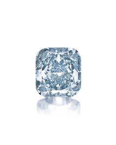 A Cushion-Cut Fancy Vivid Blue Diamond Ring of 3.81ct (estimate: $2.5 – $3.5 million).