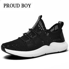 buy online f372c a62d0 Scarpe da uomo traspiranti in mesh per uomo Sneakers ammortizzate leggere da  uomo Summer Brand da