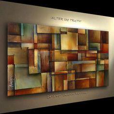 ART ABSTRACT PAINTING MODERN Contemporary DECOR Michael Lang certified original | eBay