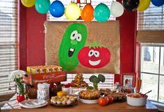 Veggie Tale party #veggietales 2 year old.