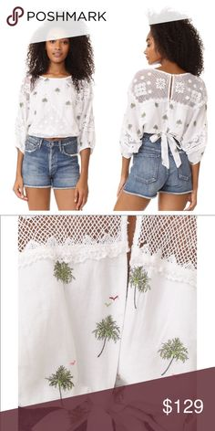 Free people Carolina top Cute brand new w tags! Free People Tops Blouses