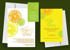 Printable Wedding Invitation Citrus  Print at Home by nraevsky, $59.00