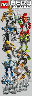 "LEGO HERO FACTORY 2"" X 6"" LAMINATED BOOKMARKS"