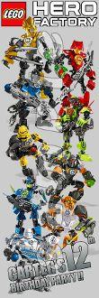 """LEGO HERO FACTORY 2"""" X 6"""" LAMINATED BOOKMARKS"""