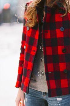 .Black & red jacket