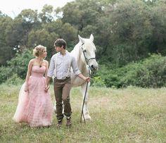 Vestido de novia color rosa palo