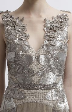 Badgley Mischka Pre-Spring 2013 - texture and shine. It reminds me of the dress from Ever After...which is a good thing.