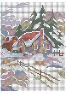Photo from album Cross Stitch House, Cross Stitch Art, Cross Stitching, Cross Stitch Embroidery, Cross Stitch Patterns, Embroidery Patterns, Cross Stitch Geometric, Cross Stitch Landscape, Cross Stitch Pictures