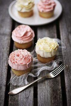 Vanilla buttercream cupcake.