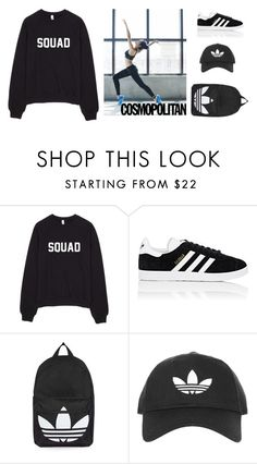 """adidas babe"" by m-gorodetskaya ❤ liked on Polyvore featuring adidas and Topshop"