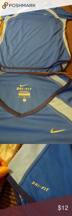 Nike Dri Fit shirt Blue and little blue. Looks new Nike Tops Tees - Short Sleeve