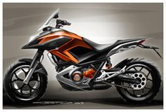 NC700X styling design sketch