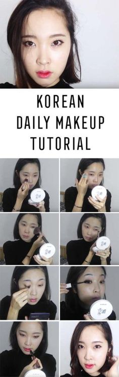Best Korean Makeup Tutorials - Korean Daily Makeup Tutorial⭐️ 겨울 데일리메이크업 - Natural Step By Step Tutorials For Ulzzang, Pony, Puppy Eyes, Eyeshadows, Kpop, Eyebrows, Eyeliner and even Hairstyles. Super Cute DIY And Easy Contouring, Foundation, and Simple Dewy Skin Help For Beginners - https://www.thegoddess.com/best-korean-makeup-tutorials #easyhairstylesforbeginners