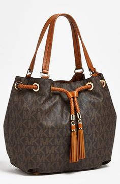 MICHAEL Michael Kors 'Large' Gathered Tote | Nordstrom