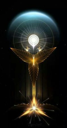 Light Of Hope On Golden Wings by on DeviantArt Sacred Geometry Art, Sacred Art, Les Chakras, Golden Wings, Angel Art, Visionary Art, Psychedelic Art, Fractal Art, Fantasy Art