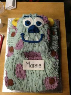 Sully Monsters Inc Birthday cake