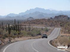 On the road, Baja #California.