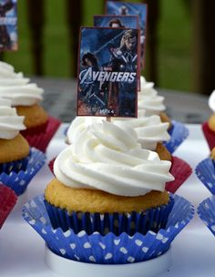 Marvel's The Avengers Printable Cupcake Toppers Avengers Birthday, Superhero Birthday Party, Boy Birthday Parties, 11th Birthday, Birthday Ideas, Happy Birthday, Avenger Cupcakes, Avenger Cake, Cupcake Party