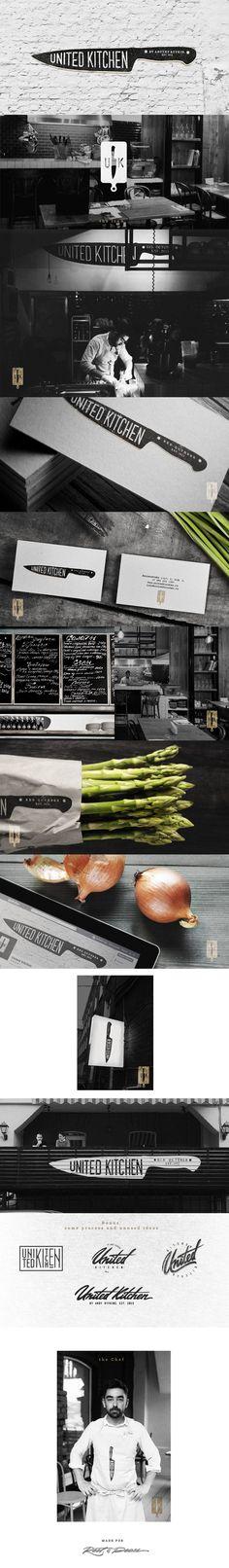 United Kitchen, Identity © DmitryGerais | #stationary #corporate #design #corporatedesign #identity #branding #marketing < repinned by www.BlickeDeeler.de | Visit our website: www.blickedeeler.de/leistungen/corporate-design