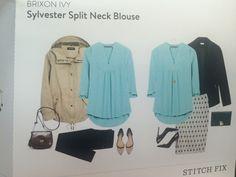 Brixon Ivy Sylvester Split Neck Blouse.  $54.00; I got it in Green.