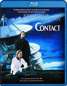 Contact is a science fiction film about an encounter with alien intelligence. Based on the novel by Carl Sagan the film starred Jodie Foster as the one chosen scientist who must make some difficult decisions between her beliefs, the truth, and reality. Film Science Fiction, Fiction Movies, Sci Fi Movies, Space Movies, Watch Movies, Forrest Gump, Matthew Mcconaughey, The Fosters, Tv Series Online