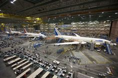 Boeing has offices and factories throughout the Seattle Metropolitan area.