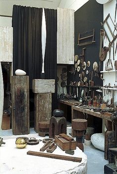 Brancusi studio in Paris. I would love to add some of these vintage tools to my collection :)