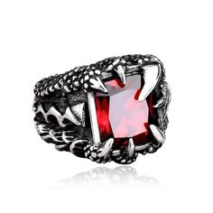 """""""BARI EID BARI BACHAT UPTO 25% OFF"""" Jewelry has the power to be this one little thing that can make you feel unique Dragon Claw Stainless Titanium Steel Mens Ring Size available: 18, 19, 20, 21 Not Easy to Fade, High Quality Material."""